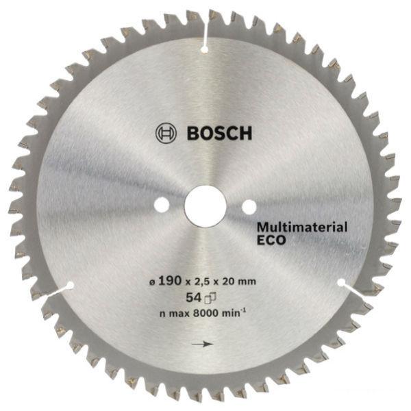 Циркулярный диск Bosch 190x20/16 54 Multi ECO