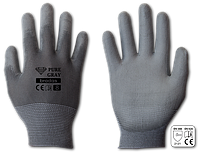 Перчатки рабочие PURE GRAY полиуретан, размер 10
