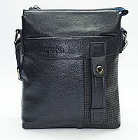 Мужская сумка из 100% натуральной кожи синяя