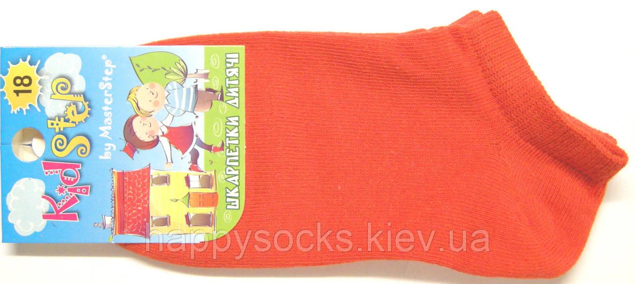 Носки летние короткие детские оранжевые