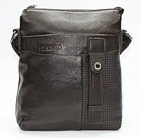 Мужская сумка из 100% натуральной кожи коричневая