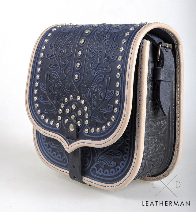 Кожаная сумка з декором