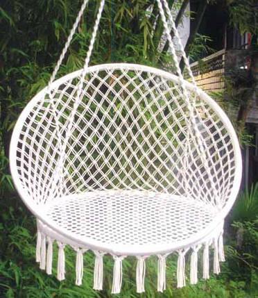 """Гамак """"Relax"""" сидячий кресло Macrame TROPICANA 93*48 см, фото 2"""
