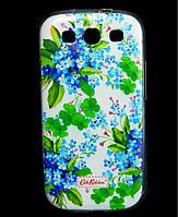 Чехол накладка для Samsung Galaxy S3 i9300i силиконовый Diamond Cath Kidston, Прекрасные незабудки