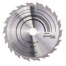 Циркулярный диск Bosch 230x30 18 Speedline