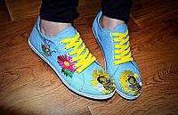 """Кеды """"Пчелка ложка"""" IK-501 (голубой), фото 1"""
