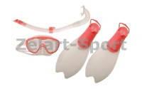 Набор для плавания детский: маска, трубка,ласты SPEEDO (р-р 33-36,36-38,термостекло,пластик)