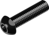 Винт М3х16 с полукруглой головкой, с внутр. шестигр.(INBUS), сталь кл. пр. 10.9 БП