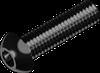 Винт М4х8 с полукруглой головкой, с внутр. шестигр.(INBUS), сталь кл. пр. 10.9 БП