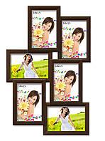 Мультирамка-коллаж Аврора на 6 фотографий 10х15 коричневая