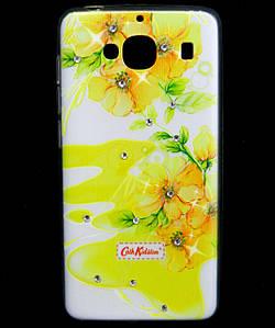 Чехол накладка для Xiaomi Redmi 2 силиконовый Diamond Cath Kidston, Sun Flowers