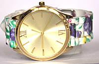 Часы geneva цветы 3