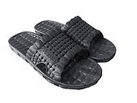 """Летний мужской тапочек """"TS Shoes' черный"""