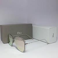 Солнцезащитные очки Dior пудровые