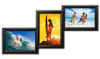 Мультирамка-коллаж Волна на 3 фотографии 10х15 черная