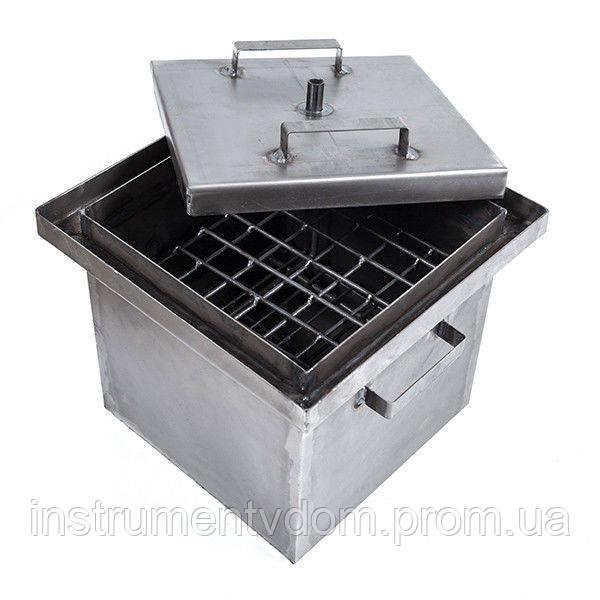 Коптильня горячего копчения с гидрозатвором (250х250х250 мм)