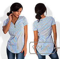 Женская летняя блуза в морском стиле