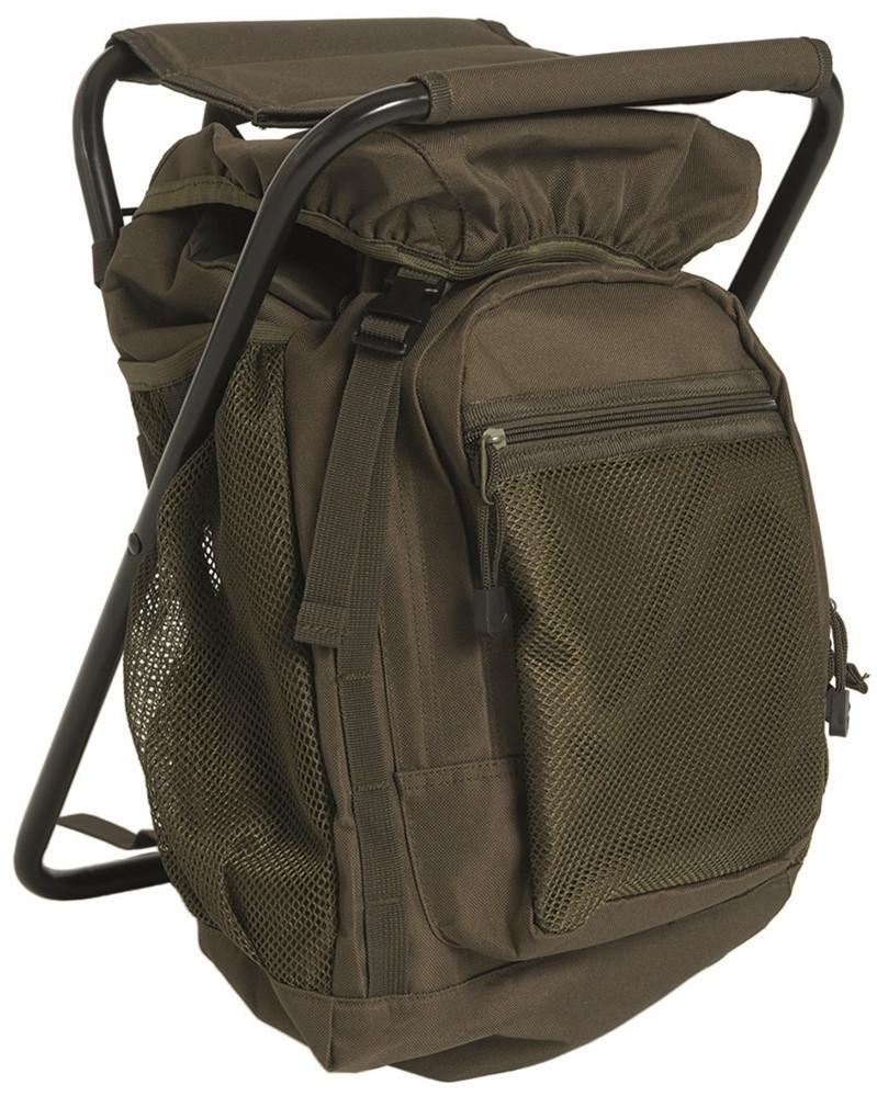 Рюкзак с раскладным стульчиком (Olive) 20л. Mil- Tec Sturm (Германия)