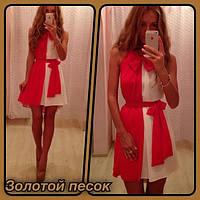 Платье шифоновое с бантом, фото 1