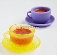 Силиконовая форма Чашка с блюдцем 3D (2 формы)