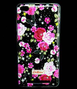 Чехол накладка для Xiaomi Redmi 3 силиконовый Diamond Cath Kidston, Ночные розы