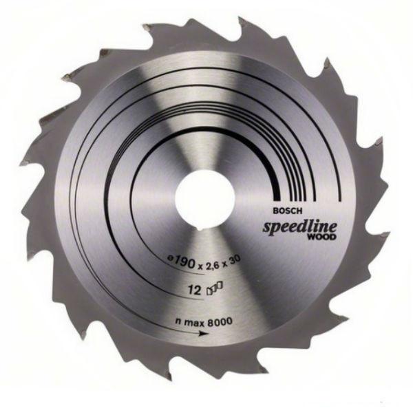 Циркулярный диск Bosch 190x30 12 Speedline