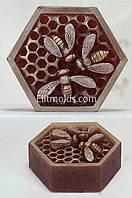 Силиконовая форма Пчелки на сотах