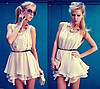 Платье шифоновое трехслойное