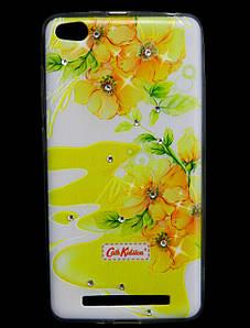 Чехол накладка для Xiaomi Redmi 3 силиконовый Diamond Cath Kidston, Sun Flowers