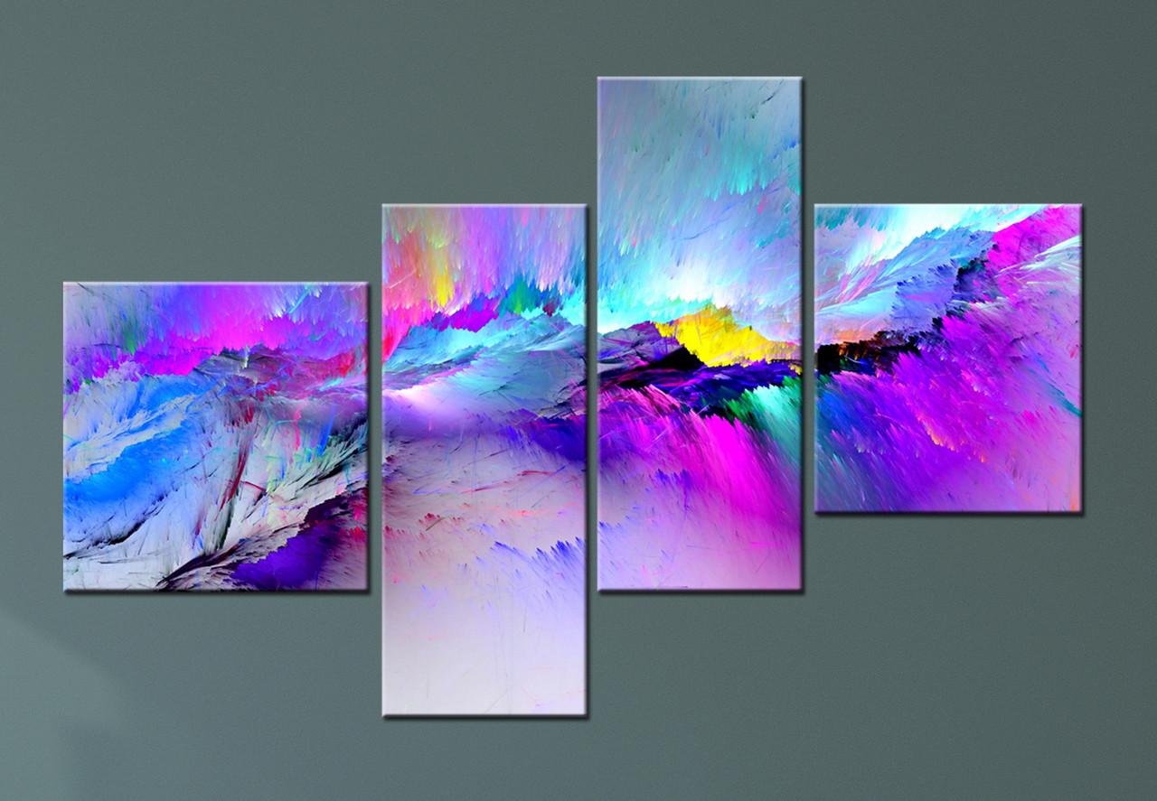 """Модульная картина """"Абстрактные краски"""""""
