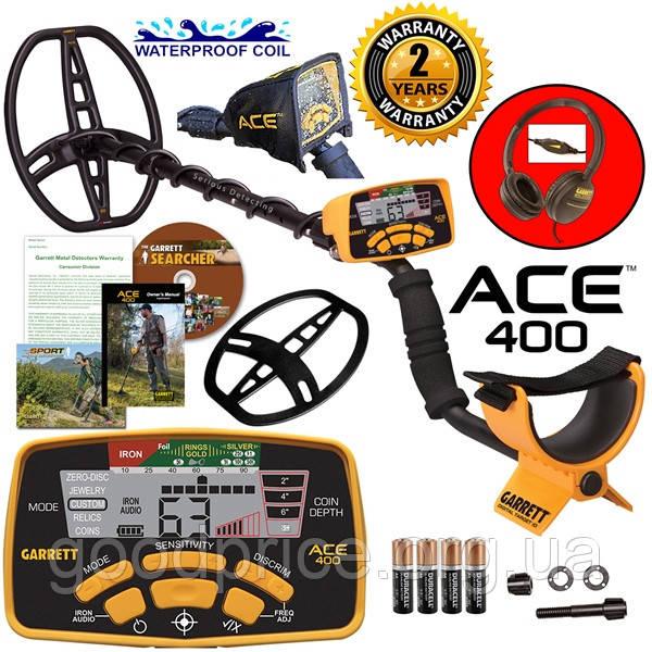 Металлоискатель Garrett Ace 400i максимальный комплект - Официальная гарантия 2 года. Бесплатная доставка!