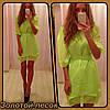 Платье шифоновое ассиметрия