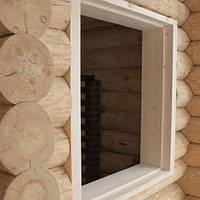 Окосячка окон, проемов деревянного дома, сруба