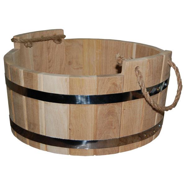 Шайка для бани дубовая (15 л, 40*20 см)