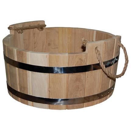 Шайка для бани дубовая (15 л, 40*20 см), фото 2