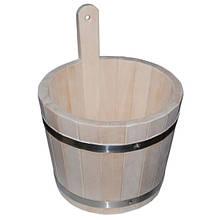 Ушат (шайка) липовый для бани,  4 л