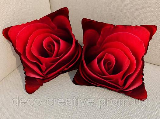 Фотоподушка роза