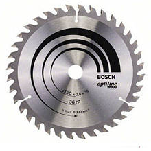 Циркулярный диск Bosch 190x20 36 Optiline