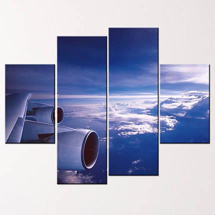 """Модульная картина """"Над облаками"""", фото 2"""