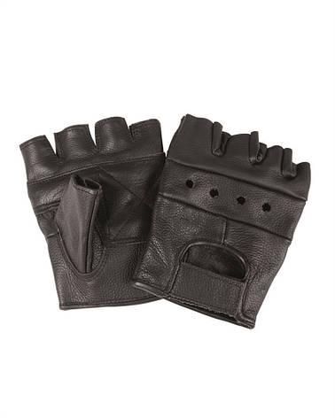 Перчатки байкерские обрезанные (Black) Mil Tec Sturm, фото 2