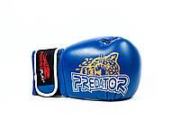 Боксерские перчатки, синтетическая кожа Leopard Predator Serits Power Play синий