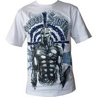 Мужская футболка SPARTAN 100% коттон Power System белый