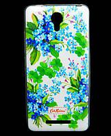 Чехол накладка для Xiaomi Redmi Note 2 силиконовый Diamond Cath Kidston, Прекрасные незабудки