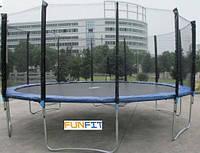 Детский большой батут FUNFIT 435 см с сеткой и лесенкой
