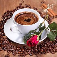 Алмазная мозаика полная выкладка Чашка кофе 25*25 см
