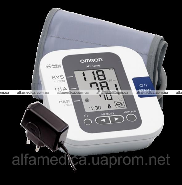 Автоматический тонометр OMRON M3 Family с универсальной (для среднего и большого объема руки) манжетой 22-42 с - Альфамедика Alfamedica интернет-магазин медтехники в Днепре