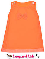 Платье сетка с бусинками неон оранжевое