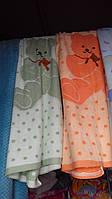 Махровое полотенце мишка для ребенка 120х110 см