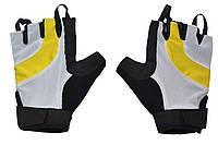 Перчатки велосипедные с петельками желтые