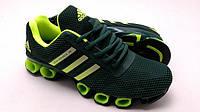 Кроссовки adidas bounce 3d зеленые с салатовым 85015